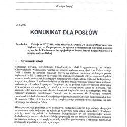 Parlament Europejski pracuje nad petycją w sprawie TVP